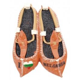 Магнитна релефна фигурка във формата на цървули с надпис - Аз обичам България