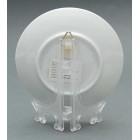 Порцеланова релефна чинийка с пластмасова поставка и кукичка за закачване