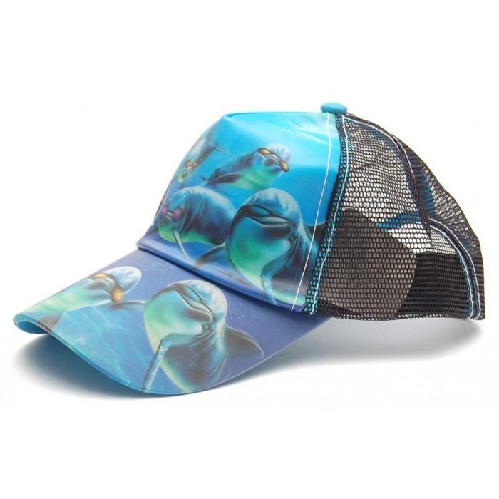 Спортна лятна шапка с козирка - 3D изображения на животни