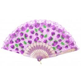 Ветрило от текстил с цветен принт, декорирано с дантела