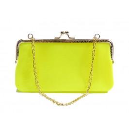 Цветна чантичка с метална закопчалка и верижка за ръка