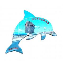 Сувенирна магнитна пластинка във формата на делфин - Несебър