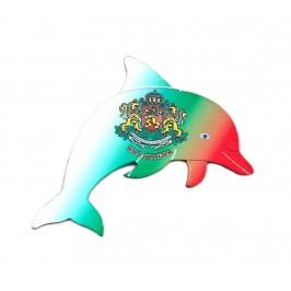 Сувенирна магнитна пластинка във формата на делфин - България