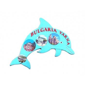 Сувенирна магнитна пластинка във формата на делфин