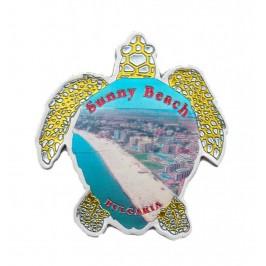 Сувенирна магнитна пластинка във формата на костенурка - Слънчев бряг