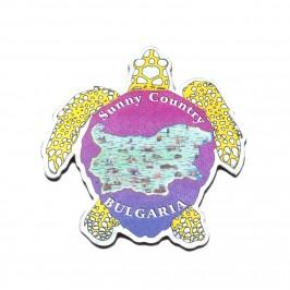 Сувенирна магнитна пластинка във формата на костенурка - България