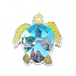 Сувенирна магнитна пластинка във формата на костенурка - Варна, Балчик, Несебър, Калиакра