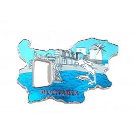 Сувенирна магнитна отварачка - контури на България