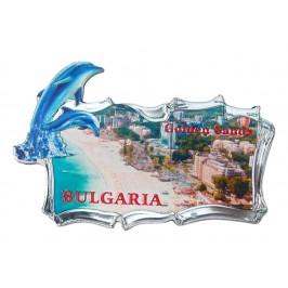 Релефна магнитна пластинка с делфин - плажовете на Златни пясъци
