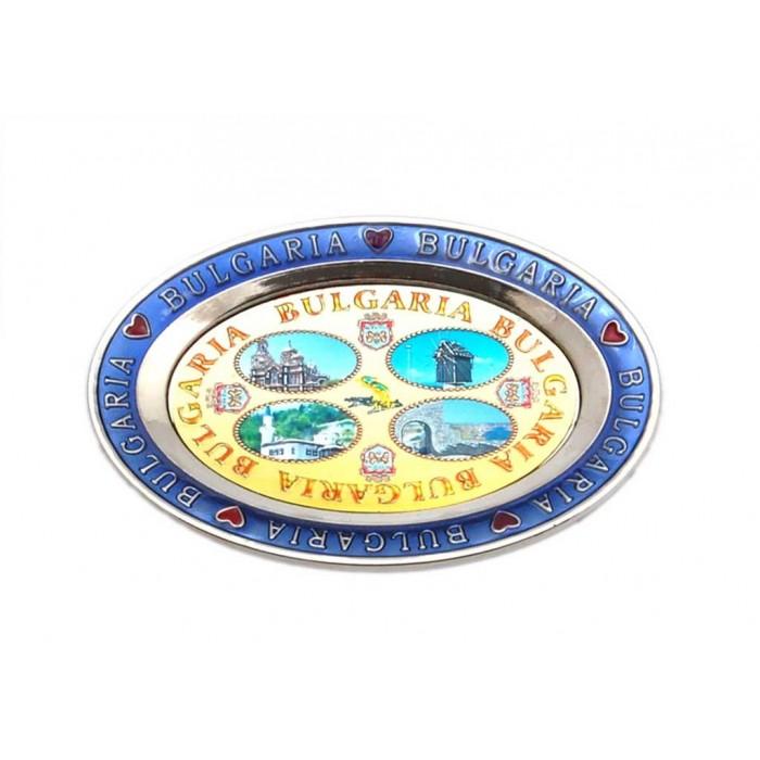 Елипсовидна метална чинийка с магнит
