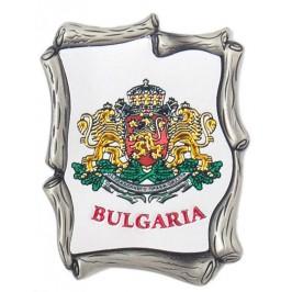 Декоративна метална пластинка с магнит - гербът на България