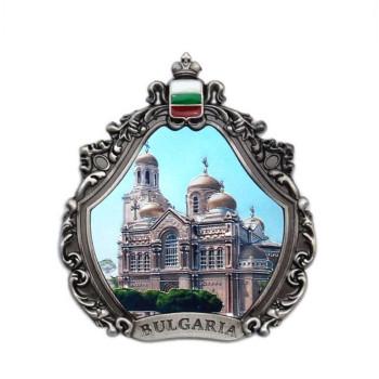 Декоративна метална фигурка с магнит - катедралата във Варна