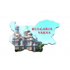 Релефна магнитна пластинка - контури на България