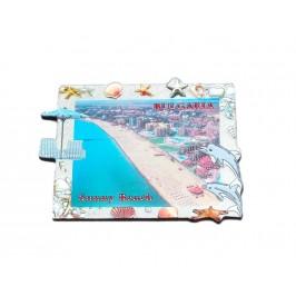 Сувенирна магнитна пластинка - плажовете на Слънчев бряг