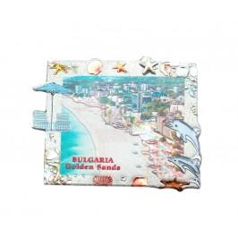 Сувенирна магнитна пластинка - плажовете на Златни пясъци