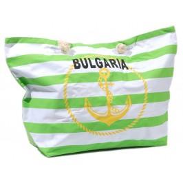 Лятна чанта с котва и надпис България - текстил