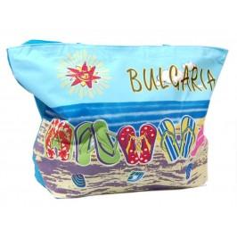 Лятна текстилна - морски изглед с джапанки и надпис България