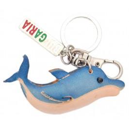 Ключодържател с кожена фигурка - делфин