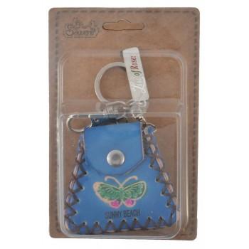 Сувенирен ключодържател - портмоне с пеперуда