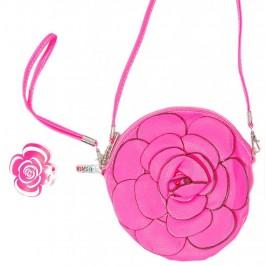 Чантичка във формата на роза - изкуствена кожа