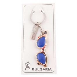 Сувенирен ключодържател във формата на слънчеви очила с пластинка - България