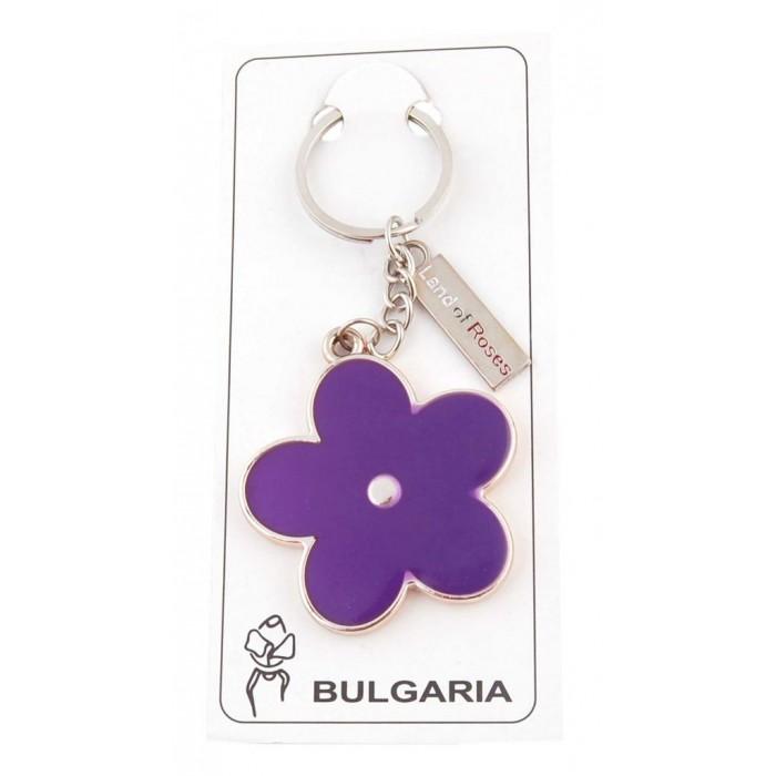 Сувенирен ключодържател във формата на цвете с пластинка - България