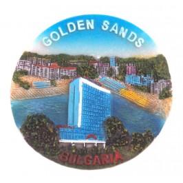 Декоративна релефна фигурка с магнит - Златни пясъци