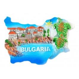 Магнитна релефна фигурка - контури на България