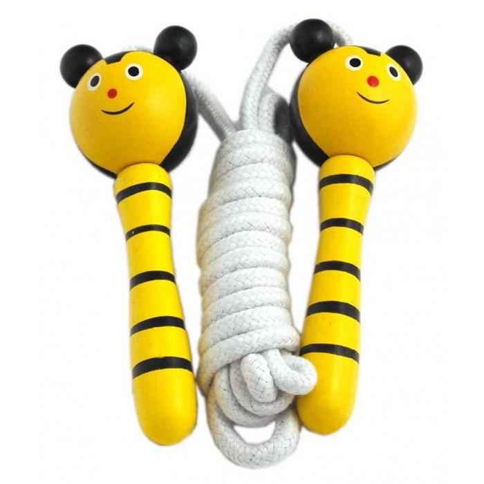 Въже за скачане с дървени дръжки - животни