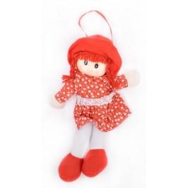 Красива плюшена кукла с текстилни дрехи