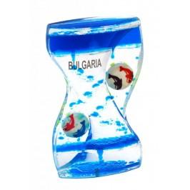 Декоративен часовник с цветна течна консистенция - на принципа на пясъчния часовник, България