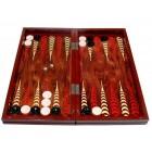 Комплект шах и табла в красива дървена кутия