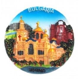 Декоративна релефна фигурка с магнит - забележителности във Варна