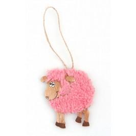 Дървена магнитна фигурка - овца