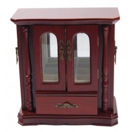 Стилна дървена кутия за бижута - гардероб