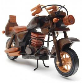 Сувенир от дърво - мотор с въртящи се гуми