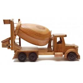 Сувенир от дърво - бетоновоз, ръчна изработка