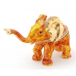 Метална декоративна кутийка за бижута във формата на слон - фаберже
