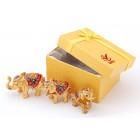 Комплект от 3бр. декоративни метални кутийки за бижута