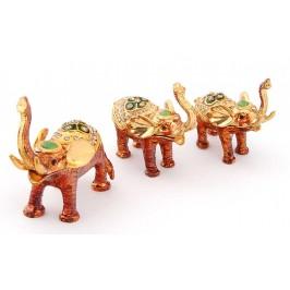 Комплект от 3бр. декоративни кутийки за бижута във формата на слончета - фаберже