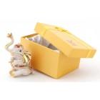 Декоративна метална кутийка за бижута във формата на седнал слон - фаберже