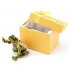 Декоративна метална кутийка за бижута във формата на жаба, държаща перла - фаберже