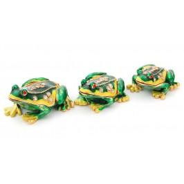 Комплект от 3 броя декоративни кутийки за бижута - фаберже