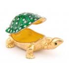Метална декоративна кутия за бижута във формата на костенурка - фаберже