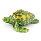 Декоративна кутия за бижута във формата на костенурка с малкото си - фаберже