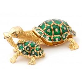 Кутийка за бижута във формата на костенурка с малкото си - фаберже