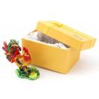 Декоративна метална кутийка за бижута във формата на петел - фаберже