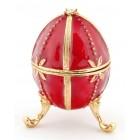 Декоративна метална кутия за бижута във формата на яйце - фаберже