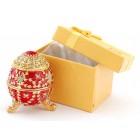 Декоративна кутия за бижута във формата на яйце - фаберже