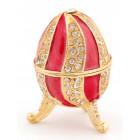 Декоративна кутия за бижута във формата на яйце - фаберже, стилно украсено с камъни